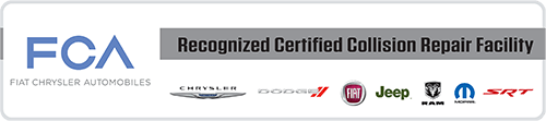 Fiat Chrysler Automobiles Recognized Certified Collision Repair Facility logo