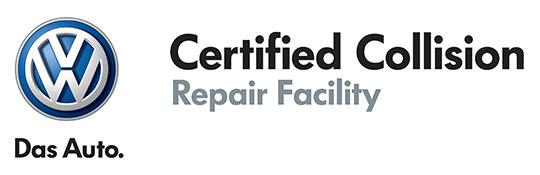 Volkswagen Certified Collision Repair Facility logo