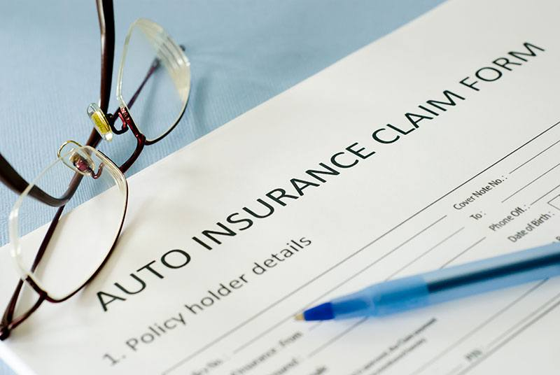 Auto insurance claims form